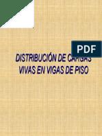 Distribucion de Cargas Vivas en Vigas de Piso