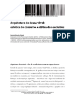 Arquitetura Do Descartavel Estetica Do Consumo Estetica Dos Excluidos
