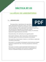 Práctica Nº 03:TÉCNICAS DE LABORATORIO