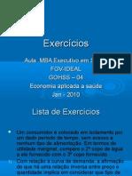 Exercícios Economia Básica