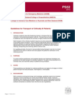 Ps52 2013 Guidelines for Transport of Critically Ill Patients