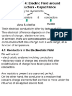 Electric Field around Conductors - Capacitance
