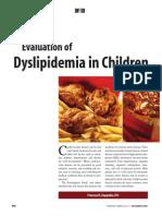 Dislipidemias Niños