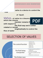 Presentation of Valves