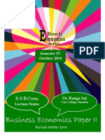 SYBCom Business Economics Semester IV 2014