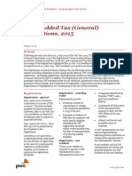PwC Newsletter - Value Added Tax Regulations, 2015 -Updated Version