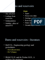 Reservoirs and Dams