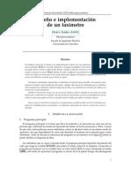 Diseño e implementación de un taxímetro