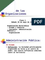 Teoría de Las Organizaciones -Clase 1 2012 I