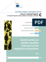 Note Spain Gender Policies
