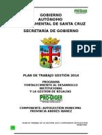 0.1. Plan de Tabajo Gestion 2013 Componente Autogestion