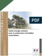 Guide Énergie Carbone Pour Le Patrimoine Immobilier Universitaire