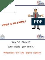 Satyam - Six Sigma Awareness Program Module 1.1