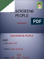 Describing People - vocabulary