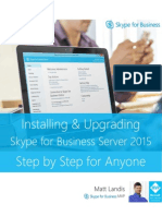 Skype for Business Server 2015 Step by Step for Anyone - Installing and Upgrading_REV_04
