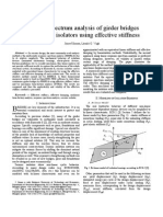 Response spectrum analysis of girder bridges with seismic isolators using effective stiffness