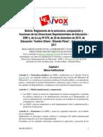 Bolivia Reglamento de La Composición, composición y funciones de las Direcciones Departamentales de Educación