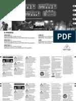 Behringer U-PHORIA UMC404HD Quickstart Guide
