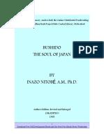 BUSHIDO THE SOUL OF JAPAN INAZO NITOBÉ