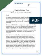 El Camino Sith Del Caos 09082015