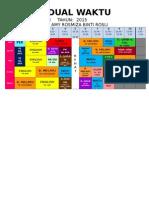 Jadual Waktu Kelas 1b 2015-25 Mac 2015