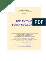Reflexions Sur La Guillotine - CAMUS