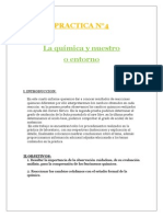 PRACTICA N°4:La química y nuestro entorno