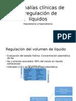 Anomalías Clínicas de La Regulación de Líquidos