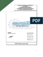 Evaluar y Optimizar Area Almacenamiento Comeso CA