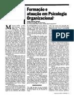 Formação e Atuação Do Psicologo Zanelli 1986