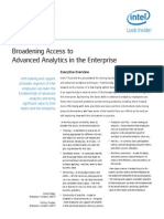 Broadening Access to Advanced Analytics in the Enterprise