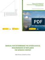Wetlans Hydrological Requeriments