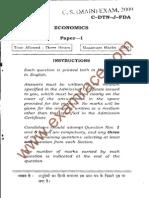 IAS Mains Economics 2009