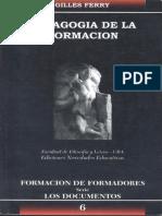 Ferry - Pedagogía de la formación (extracto)