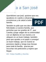 Carta a San Jose