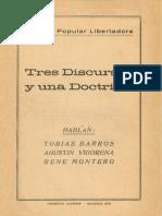 Tres Discursos y Una Doctrina
