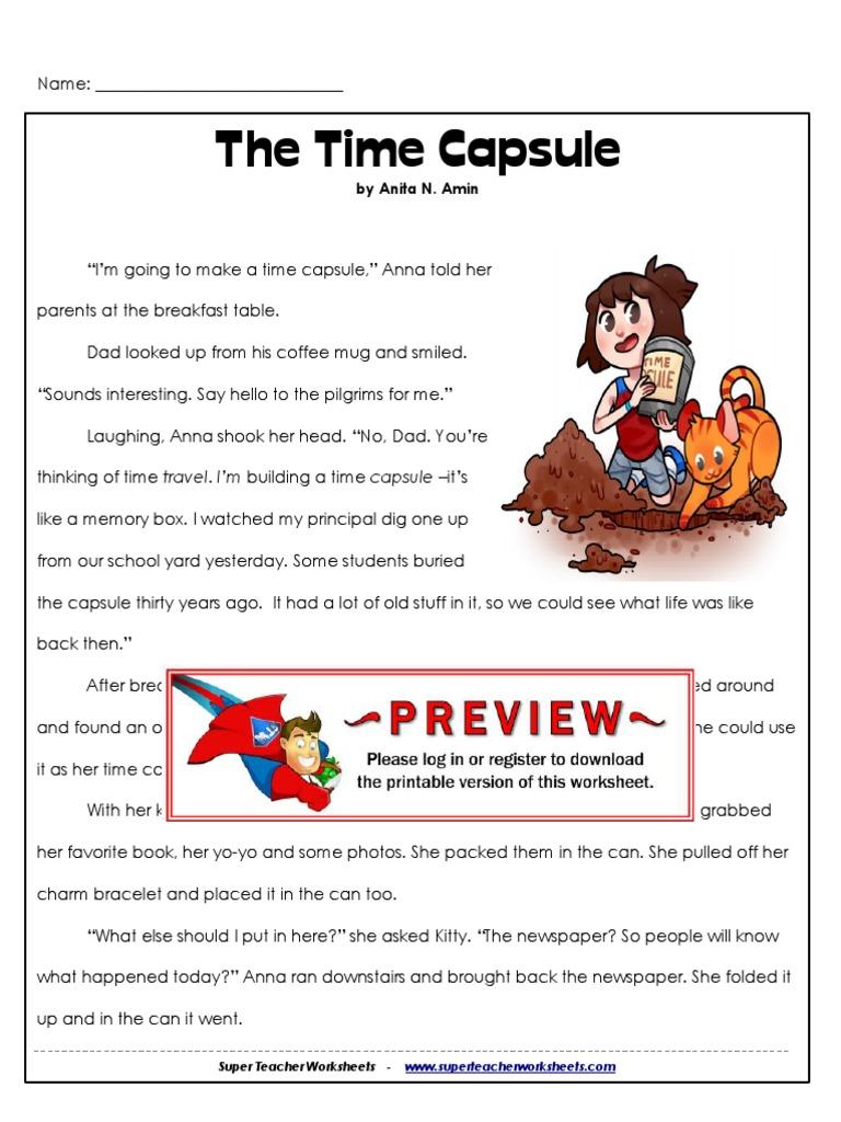 worksheet Time Capsule Worksheet 3rd time capsule leisure