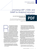 USP General Chapter <1058> Analytical Instrument Qualification Comes into Force on 1 August 2008