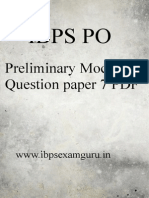 IBPS PO Preliminary Practice Set 7