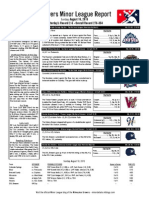 Minor League Report 15.08.16