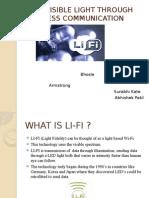 Li-fi –Visible Light Through Wireless Communication