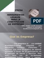 Clase de Constitucion de Empresas