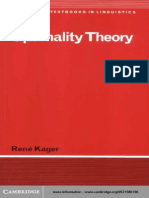 Optimality Theory - Kager