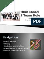 Belbin Model for Team Member Role Understanding