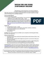 2015 biotechnology disclosure