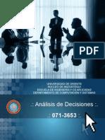 UNIDAD 5 de analisis de decisiones