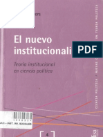 209584982 Peters Guy El Nuevo Institucionalismo