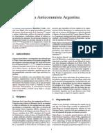 Alianza Anticomunista Argentina WIKIPEDIA