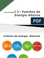 Fuentes de energía alterna