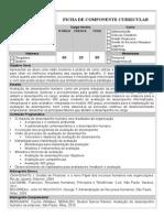 Ficha de Componente Curricular - Avaliação de Desempenho